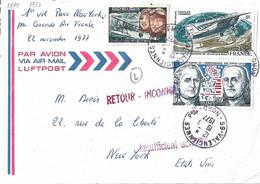 Vergennes N° Y&T 1879 Et Lindbergh PA50 Affranchissement Pour Les Etats-Unis - Briefe U. Dokumente