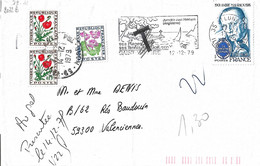 André Malraux N° Y&T 2032B Sur Lettre Taxée - Briefe U. Dokumente