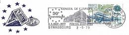 EUROPA Avion Simoun N° Y&T 2046 Sur Lettre Entière, Flamme Du Conseil De L'Europe - Briefe U. Dokumente