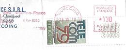 TELECOM N° Y&T 2055 Sur Lettre Entière, Timbre Annulé Par Une Empreinte De Machine - Briefe U. Dokumente