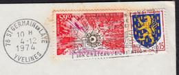 Surrégénérateur Phénix Y.et.T.1803 + Blason Nevers Y.et.T.1354  Sur Enveloppe De 78 ST GERMAIN En LAYE Le 4 12 1974 - Briefe U. Dokumente