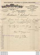 MARTIN ET THIBAUD A LYON PLACE BELLECOUR............. FACTURE  DE  1908 - 1900 – 1949