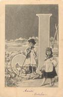 Themes Div Ref GG461- Enfants -surrealisme -lettre Alphabetique Fleurie - Alphabet - Lettre J - - Zonder Classificatie