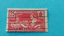 FRANCE - République Française - Timbre 1924 : Sports - 8ème Olympiade Paris 1924 - Gebraucht