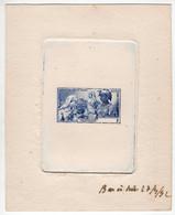 Martinique : Epreuve De Luxe  ; Essai Couleur Bleu : Format 15,5 X 12 - Briefe U. Dokumente