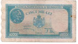 Romania 5000 Lei 20 Decemvrie 1945 See Scan Note - Romania