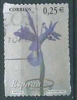 SPANIEN ESPAGNE SPAIN ESPAÑA 2002 FROM CARNET FLOWERS FLORES USED ED 3874 YT 3439 MI 3719 SG 3844 SC 3145F - 2001-10 Usati