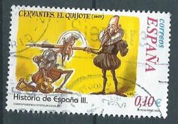 SPANIEN ESPAGNE SPAIN ESPAÑA 2002 FROM HISTORY II: CERVANTES. EL QUIJOTE USED ED 3912 YT 3480 MI 3760 SG 3882 SC 3175 - 2001-10 Usati