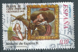 SPANIEN ESPAGNE SPAIN ESPAÑA 2002 FROM HISTORY II: FELIPE IV Y OLIVARES USED ED 3913 YT 3481 MI 3761 SG 3883 SC 3175B - 2001-10 Usati