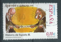 SPANIEN ESPAGNE SPAIN ESPAÑA 2002 FROM HISTORY II: QUEVEDO Y GÓNGORA  USED ED 3914 YT 3482 MI 3762 SG 3884 SC 3175C - 2001-10 Usati