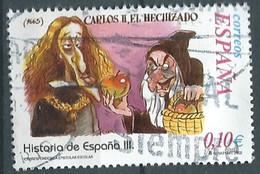 SPANIEN ESPAGNE SPAIN ESPAÑA 2002 FROM HISTORY II: CARLOS II EL HECHIZADO USED ED 3916 YT 3484 MI 3764 SG 3886 SC 3175 - 2001-10 Usati