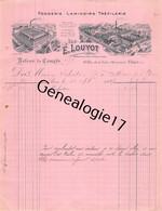 75 26812 PARIS SEINE 1907 Fonderie Laminoirs E. LOUYOT Trefilerie Rue Folie Mericourt USINE A BORNEL OISE 60 Dest SABATI - 1900 – 1949