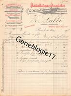 75 26827 PARIS SEINE 1907 Moteurs A Gaz Force Motrice Z. LABBE ( Labbé ) GAZOGENES GAZOGENE Rue Saint Maur Dest HAREL - 1900 – 1949