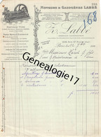 75 26828 PARIS SEINE 1910 Moteurs A Gaz Force Motrice Z. LABBE ( Labbé ) GAZOGENES GAZOGENE Rue Saint Maur Dest HAREL - 1900 – 1949