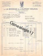 75 26837 PARIS SEINE 1955 Brosserie LA BROSSE Et J. DUPONT Rue Leon Jost USINE A BEAUVAIS RENNES NOGENT SUR SEINE - 1900 – 1949
