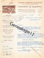 75 26842 PARIS SEINE 1949 Fabrique De Ressorts LACHANT - QUESNEL Rue Fbg Du Temple USINE A NANTERRE EPERNON - 1900 – 1949
