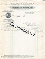 75 26846 PARIS SEINE 1939 Produits LA CHEVRETTE Entretien Chaussures Rue Fbg Saint Denis USINE A VILLENEUVE LA GARENNE - 1900 – 1949