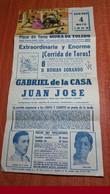 CARTEL DE TOROS 1969. PLAZA MORA DE TOLEDO. GABRIEL DE LA CASA - JUAN JOSE - Otros