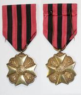 Médaille-BE-030A_Médaille Civique 1er Classe_poinçon 900_21-11-4 Version Or Sur Argent Poinçonné 900 - Belgien