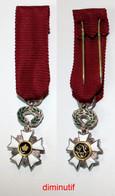 Médaille-BE-010A-di_Ordre De La Couronne_Chevalier_diminutif_21-12 - Belgien