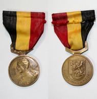 Médaille-BE-210_Medaille 50° Anniversaire Bataille De L'Yser_1914-1918_Ijzer Strijd_stad Nieuwpoort_21-12 - Belgien