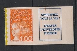 France - 1997 - N°Yv. 3101a - Marianne De Luquet 1fr + Vignette - Neuf Luxe ** / MNH / Postfrisch - Ungebraucht