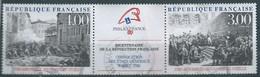 FRANKREICH FRANCIA  FRANCE 1988  BICENTENARY OF FRENCH REVOLUTION SET 2V USED YT 2537-8 MI 2674-5 SC 2121-2 SC 2843-4 - Gebraucht