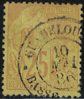 GUADELOUPE - BASSE-TERRE - ALPHEE DUBOIS - N°53  - CACHET A DATE DU 10 MAI 1886 - COTE 45€. - Alphée Dubois