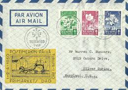 FINLANDIA (s) 368/70 En Sobre. - Briefe U. Dokumente