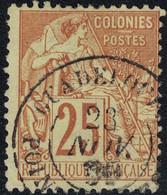 GUADELOUPE - POINTE A PITRE - ALPHEE DUBOIS - N°53  - CACHET A DATE DU 23 NOVEMBRE 1889 - COTE 40€. - Alphée Dubois