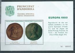 ANDORRA 1980 EUROPA: VEGUERÍA CORREO MNH N 4 - Ungebraucht