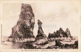 Belle Ile En Mer - Pyramides De Port Coton - 15 - Old Postcard - 1938 - France - Used - Belle Ile En Mer