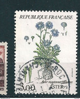 N° 2268 Aster Fleur (Aster Montanus Coeruleus) Timbre France Oblitéré 1983 - Gebraucht