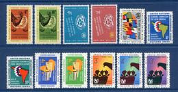 ⭐ Nations Unies - New York - YT N° 84 à 95 * - Année Complète - Neuf Avec Charnière - 1961 ⭐ - Ungebraucht