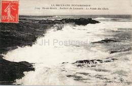 Ile De Groix - Rochers De Locmaria - La Pointe Des Chats - 7124 - Old Postcard - France - Used - Groix