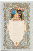 "10223 ""LETTERINA DI NATALE - PRESEPE - 1895"" IMMAGINE RELIGIOSA IN CROMOLIT., BORDI MERLETTATI IN ORO, IN RILIEVO - Otros"