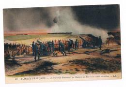 """Carte Postale Armée Francaise """" Batterie De 155mm Court En Action  """" - Materiaal"""