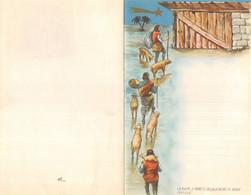 """10226 """"LETTERINA DI NATALE - I PASTORI - 1950"""" IMMAGINE IN CROMOLIT., POP-UP TRA LA 1° E 3° PAGINA, SACRA FAMIGLIA - Otros"""