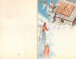 """10227 """"LETTERINA DI NATALE - GLI ANGELI - 1950"""" IMMAGINE IN CROMOLIT., POP-UP TRA LA 1° E 3° PAGINA, SACRA FAMIGLIA - Otros"""