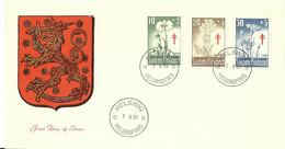 FINLANDIA (s) 486/8 En Sobre 1º Dia. - Briefe U. Dokumente