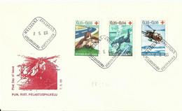 FINLANDIA (s) 580/2 En Sobre 1º Dia. - Briefe U. Dokumente