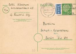 42204. Entero Postal NURNBERG (Alemania Federal) 1954. Stamp NOTOPFER Berlin - Postkarten - Gebraucht