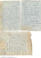3 Cartes Courriers 1907-08-10 / 39 MEUBLANS / Marie André Pour Besançon / Tampon Pointillé - 1900 – 1949