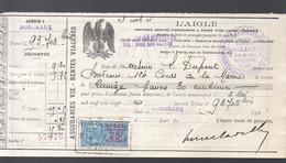 Bordeaux Reçu  1926 De La Compagnie D'assurances L'AIGLE Avec Timbre Fiscal 25c  (PPP32679) - 1900 – 1949