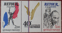 3114 - 1985 - 40e ANNIVERSAIRE DE LA VICTOIRE - TRIPTYQUE N°T2369A TIMBRES NEUFS** - Ungebraucht