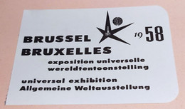 Sabena  Boarding Pass 1958 Exposition Universelle Bruxelles Brussel - Cartes D'embarquement