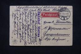 """ALLEMAGNE - Étiquette """" Feldpost"""" Sur Carte Postale ( Militaire Russe ), De Insterburg En 1918 - L 109543 - Brieven En Documenten"""