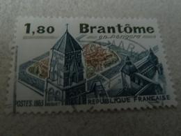 Brantôme En Périgord - 1f.80 - Vert Foncé, Bleu Foncé Et Brun-rouge - Oblitéré - Année 1983 - - Gebraucht