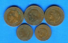 France  3  Pieces  De  10  Cents  + 2 Pieces  De  5  Cents - D. 10 Centimes