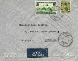 1947 Lettre De Le Caire Vers Bruxelles. Cover - Briefe U. Dokumente